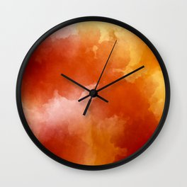 Sunset Glow Abstract Art Wall Clock