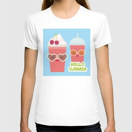 Hello Summer Kawaii cherry smoothie T-shirt