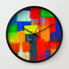 Blokkendoos by Ans Duin Wall Clock