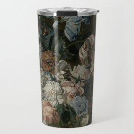 Cornelia Van Der Mijn - Still Life With Flowers Travel Mug