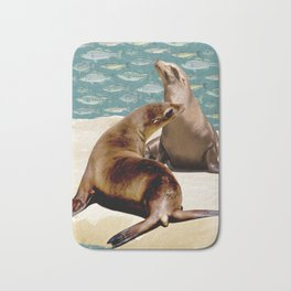 Sea Lion Paradise Bath Mat