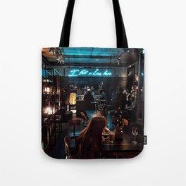 I fell in love here Tote Bag