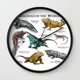 Iguanas of the World Wall Clock