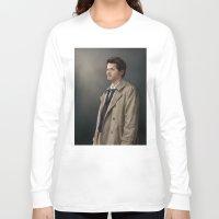 castiel Long Sleeve T-shirts featuring Castiel by San Fernandez