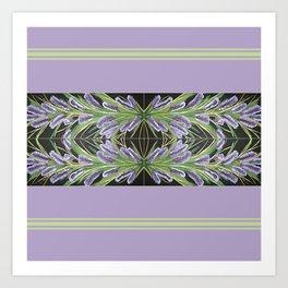 Lilac Powder Puff With Border Art Print