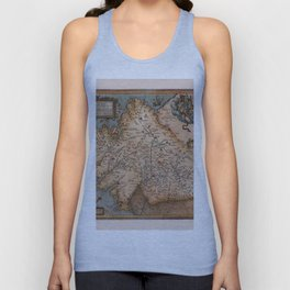 Map Of Spain 1606 Unisex Tank Top