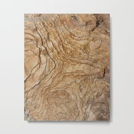 abstract rock layers Metal Print