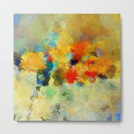Abstract Colorful Landscape Painting Metal Print