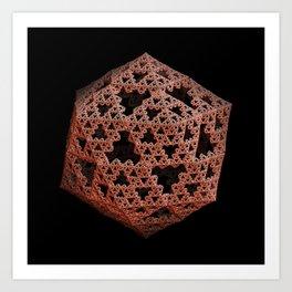 3D Fractal Icosahedron Art Print