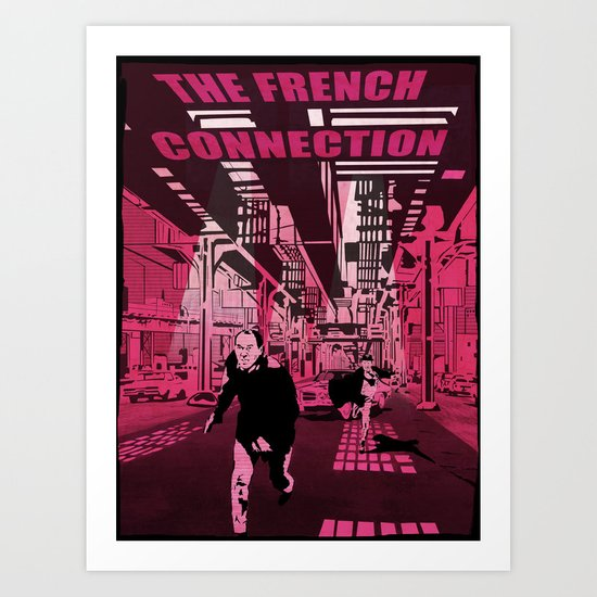 The French connection vector Art Print