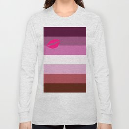 Lipstick Lesbian Long Sleeve T-shirt