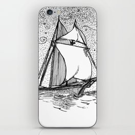 message in a bottle iPhone Skin