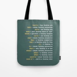 Rules of ... Grammar Tote Bag