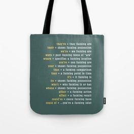 Rules of ... Grammar Tote Bag