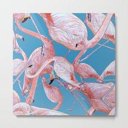 Flamingo Pattern Metal Print