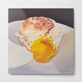 Egg Sandwich - food painting Metal Print