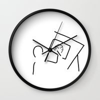 architect Wall Clocks featuring architect technical draftsmen by Lineamentum
