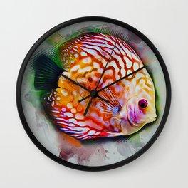 Discus Fish Wall Clock