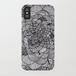 Ink flowers iPhone Case