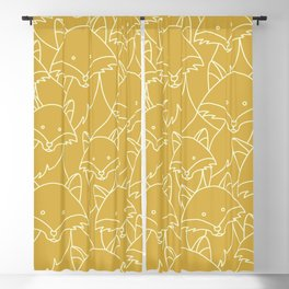 Minimalist Red Fox Blackout Curtain