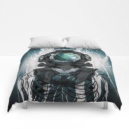 Deep Space Diver Comforters