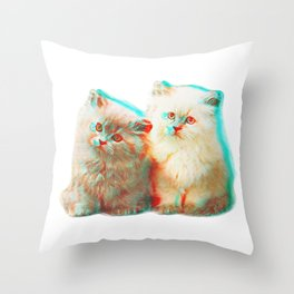 Meow Buddies Throw Pillow