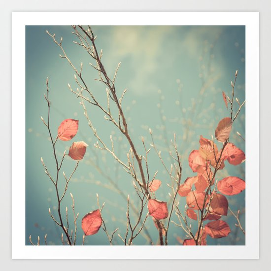 The Winter Days of Autumn Art Print