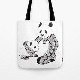 Panda Mother and Cub Tote Bag