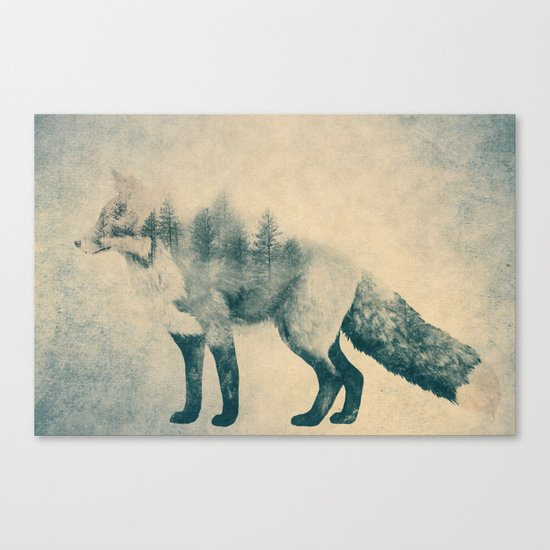 Fox and Forest - Shrinking Forest Canvas Print
