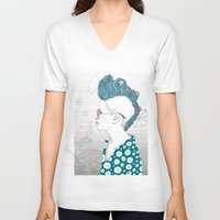 punk V-neck T-shirts featuring Punk by katiwo