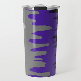 Splash of colour (purple & gray) Travel Mug