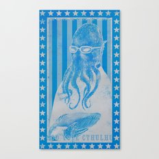 God Vote Cthulhu Canvas Print