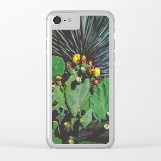 Wild Blooms Clear iPhone Case