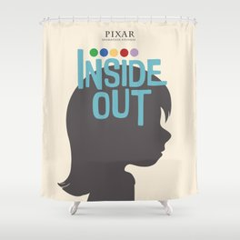 Inside Out - Minimal Movie Poster Shower Curtain