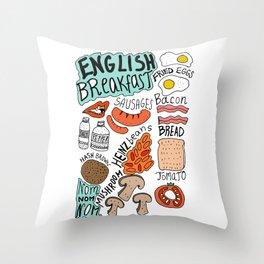 English Breakfast Throw Pillow