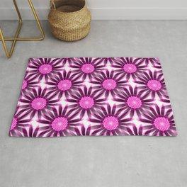 wonderful floral pattern in pink and purple Rug