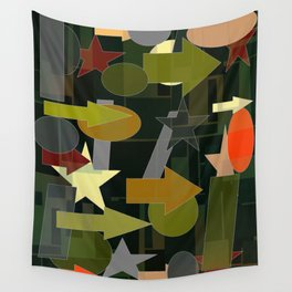 shapes of many colors Wall Tapestry