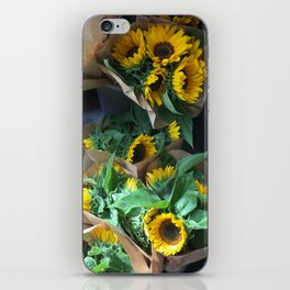 Sunflowers at the Market iPhone Skin