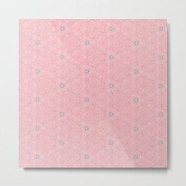 Pastel Pink Sparkle Design Metal Print