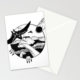 It was the end / Inktober 2018 Stationery Cards