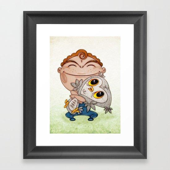 Búho Framed Art Print