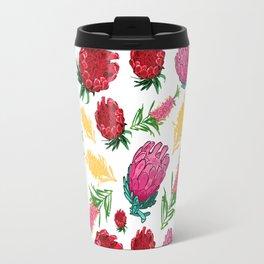 Beautiful Australian Native Floral Pattern Travel Mug