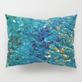 Turbulent Waves, Abstract Acrylic Pillow Sham