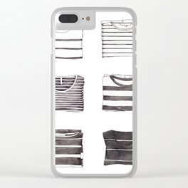 Stripes Collection Clear iPhone Case