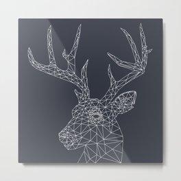 Interconnected Deer Metal Print