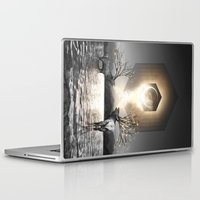 lungs Laptop & iPad Skins featuring Moon Dust In Your Lungs by soaring anchor designs