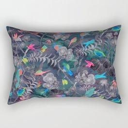 Birds and Flowers Color Pencil Rectangular Pillow