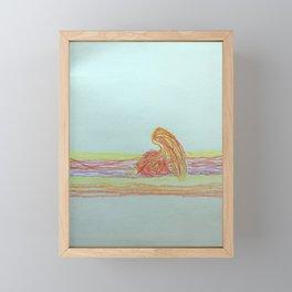 fire princess Framed Mini Art Print