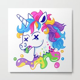 Deadicorn Metal Print