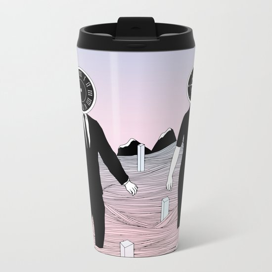 Time and Journey (To a Place I've Never Been Before) Metal Travel Mug